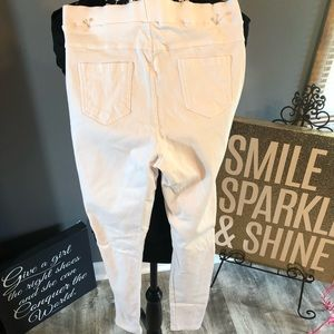 Vintage white jean leggings